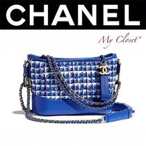 CHANEL ICON Gingham Calfskin Street Style 2WAY Chain Elegant Style