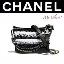 CHANEL ICON Calfskin Studded 2WAY Bi-color Chain With Jewels
