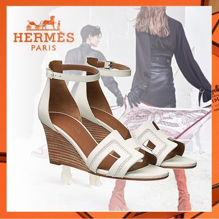 811d389339de HERMES 2019 SS Open Toe Plain Leather Elegant Style by repcafe - BUYMA