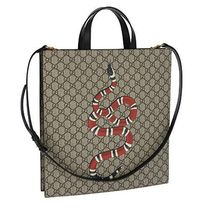 GUCCI Casual Style Canvas 2WAY Other Animal Patterns Totes