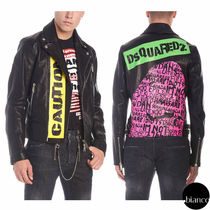 D SQUARED2 Short Street Style Leather Biker Jackets