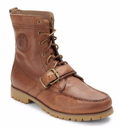 POLO RALPH LAUREN Plain Leather Engineer Boots
