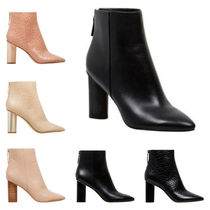 Nine West Plain Block Heels High Heel Boots