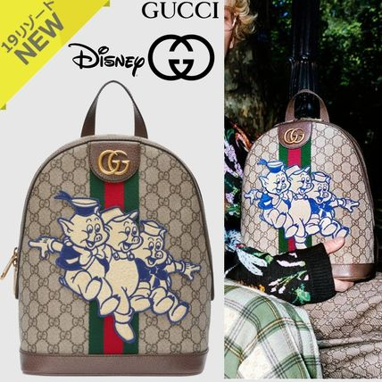 a0153f527a7 ... GUCCI Backpacks Monogram Casual Style Canvas 2WAY Other Animal Patterns  ...