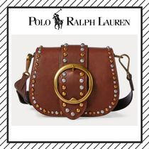 POLO RALPH LAUREN Studded Plain Leather With Jewels Elegant Style
