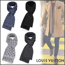 Louis Vuitton MONOGRAM Unisex Wool Street Style Bi-color Scarves