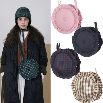 Other Check Patterns Casual Style Shoulder Bags