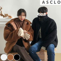 ASCLO Casual Style Unisex Street Style Collaboration Plain Medium