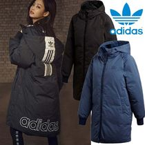 adidas Street Style Plain Long Down Jackets