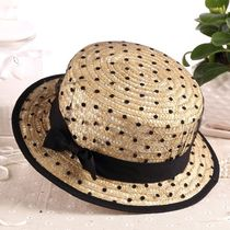 Blended Fabrics Street Style Straw Boaters Straw Hats