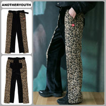 ANOTHERYOUTH Printed Pants Leopard Patterns Unisex Bi-color Oversized