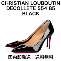 Christian Louboutin Enamel Plain Pin Heels Pointed Toe Pumps & Mules