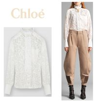 Chloe Long Sleeves Lace Shirts & Blouses