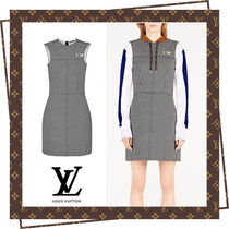 Louis Vuitton Short Zigzag Casual Style Sleeveless Dresses