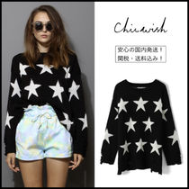 Chicwish Star Casual Style Long Sleeves Sweaters