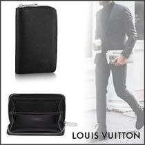 Louis Vuitton TAIGA Street Style Plain Leather Coin Cases