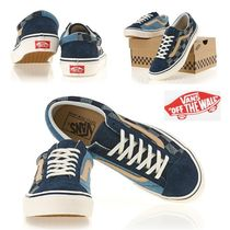VANS OLD SKOOL Other Check Patterns Casual Style Unisex Suede