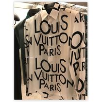Louis Vuitton Button-down Silk Street Style Bi-color Long Sleeves Shirts