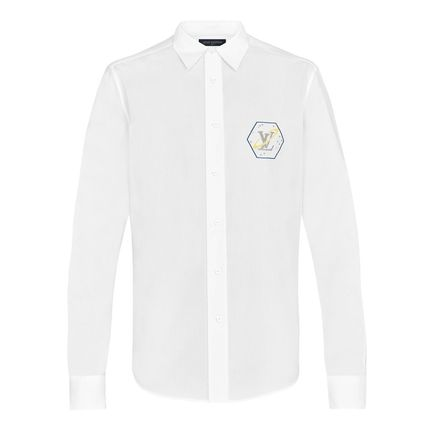 Louis Vuitton Shirts Button-down Street Style Bi-color Long Sleeves Cotton Shirts 2