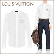 Louis Vuitton Button-down Street Style Bi-color Long Sleeves Cotton Shirts