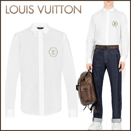 Louis Vuitton Shirts Button-down Street Style Bi-color Long Sleeves Cotton Shirts