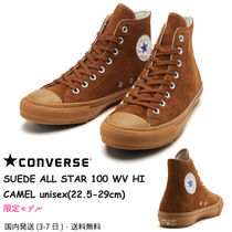 CONVERSE ALL STAR Casual Style Unisex Suede Street Style Plain