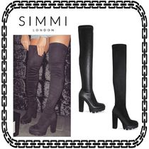 SIMMI Platform Casual Style Street Style Plain Over-the-Knee Boots