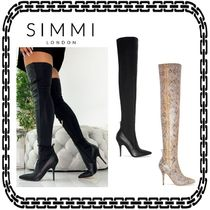 SIMMI Casual Style Street Style Other Animal Patterns Pin Heels