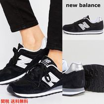 New Balance 373 Round Toe Rubber Sole Lace-up Suede Plain Low-Top Sneakers