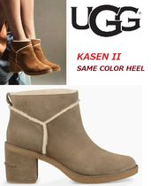 UGG Australia Round Toe Casual Style Suede Street Style Plain Block Heels