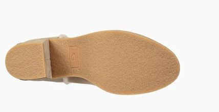 UGG Australia Ankle & Booties Round Toe Casual Style Suede Street Style Plain Block Heels 4