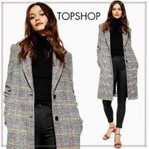 TOPSHOP Other Check Patterns Long Elegant Style Chester Coats
