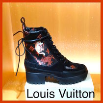 Louis Vuitton Monogram Plain Toe Casual Style Other Animal Patterns