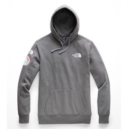 THE NORTH FACE Hoodies Street Style Long Sleeves Plain Logos on the Sleeves Hoodies 2
