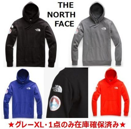 THE NORTH FACE Hoodies Street Style Long Sleeves Plain Logos on the Sleeves Hoodies