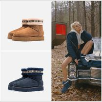 KITH NYC Casual Style Fur Street Style Flat Boots