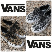 VANS AUTHENTIC Leopard Patterns Casual Style Low-Top Sneakers