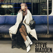 Steve Madden Plain Leather Pin Heels Party Style Ankle & Booties Boots