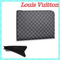 Louis Vuitton DAMIER GRAPHITE Other Check Patterns Unisex Canvas Street Style Bag in Bag