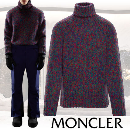 MONCLER Knits & Sweaters Pullovers Wool Street Style Long Sleeves Knits & Sweaters
