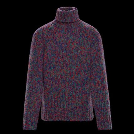 MONCLER Knits & Sweaters Pullovers Wool Street Style Long Sleeves Knits & Sweaters 2