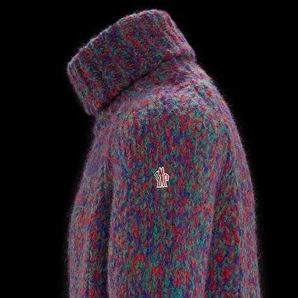 MONCLER Knits & Sweaters Pullovers Wool Street Style Long Sleeves Knits & Sweaters 4