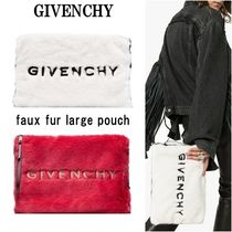 GIVENCHY Faux Fur Clutches