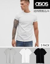 ASOS Henry Neck Plain Cotton Short Sleeves Henley T-Shirts