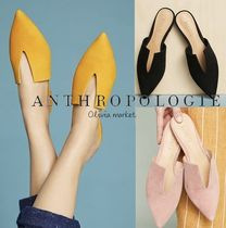 Anthropologie Casual Style Suede Plain Slip-On Shoes