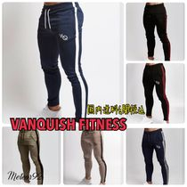 VANQUISH FITNESS Tapered Pants Street Style Cotton Tapered Pants