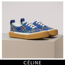 CELINE Other Check Patterns Casual Style Low-Top Sneakers