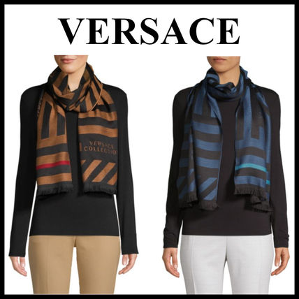 Stripes Wool Heavy Scarves & Shawls