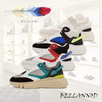 Blended Fabrics Street Style Plain Leather Sneakers