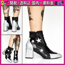 DOLLS KILL Star Casual Style Faux Fur Chunky Heels